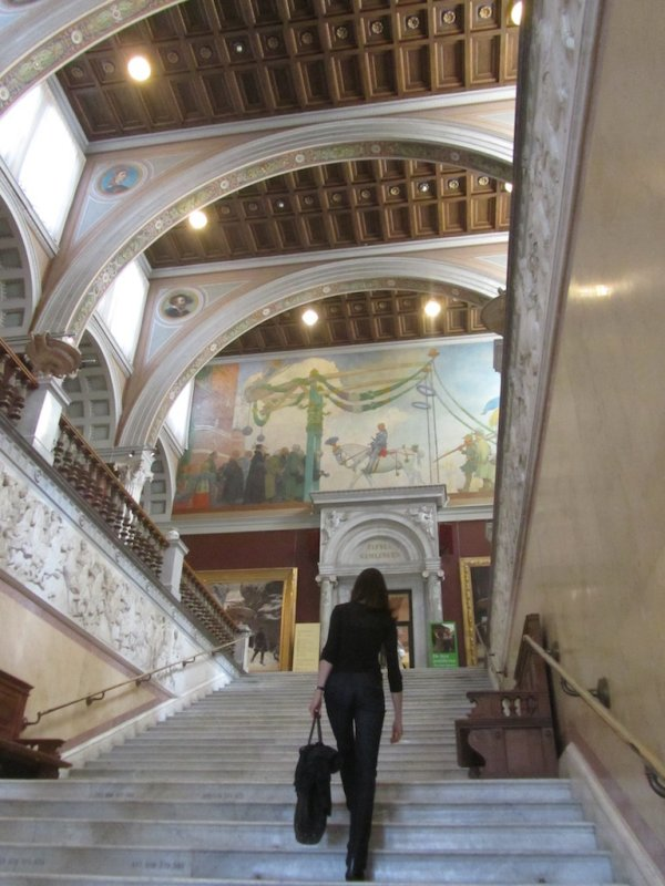 its a lovely building with an eclectic mix of Swedish and foreign art