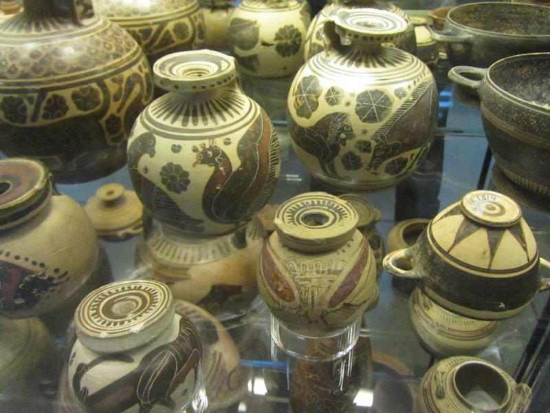 a great collection of pottery from all ages and areas