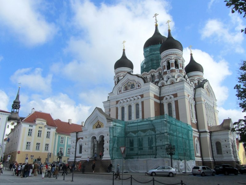 in the upper old town, the Russian orthodox Nevsky cathedral