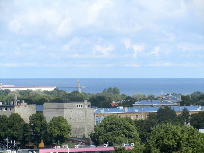 a view from the castle over the Baltic, toward Finland