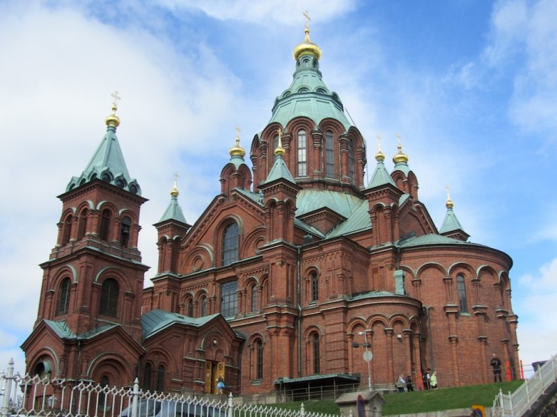 the Uspenski orthodox cathedral on a rocky hill