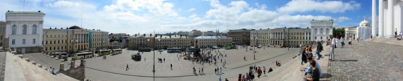 pano: Senate square from the cathedral