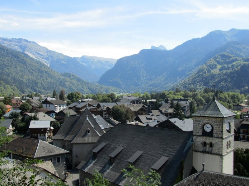 in Samoëns, in a valley further into the mountains