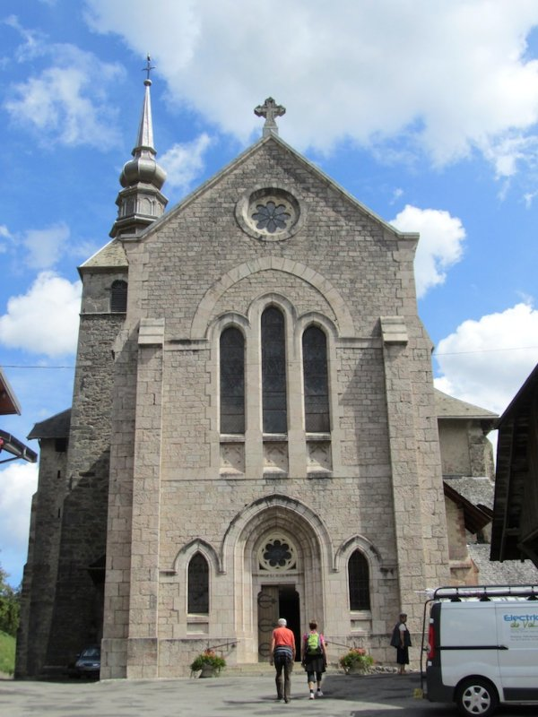 ...to the church and abbey of Abondance