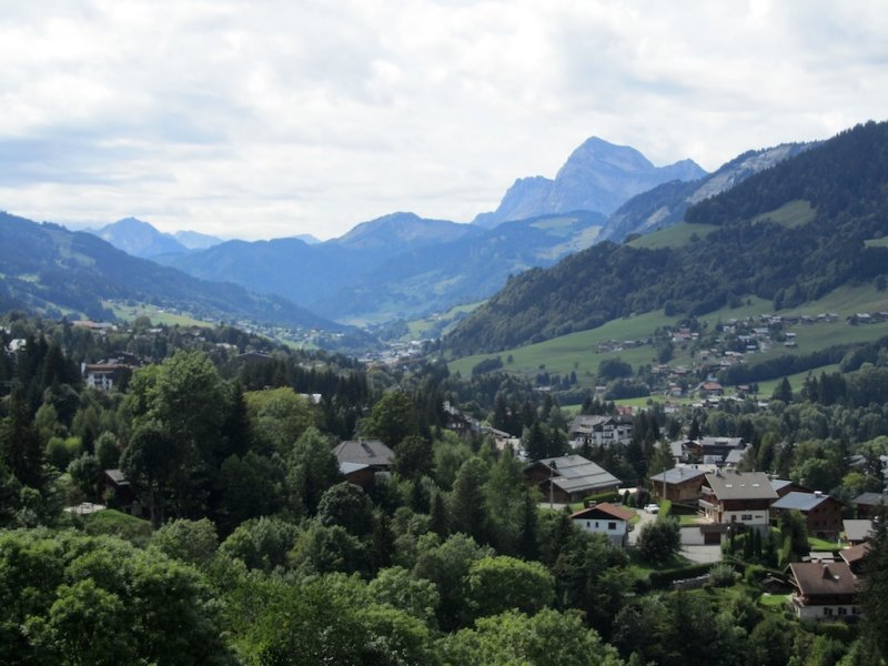 a view from Calvary Hill in Megève