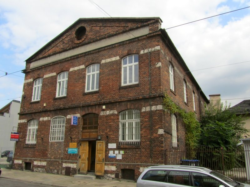 out in Kazimierz, heres a historic factory, right next door to...