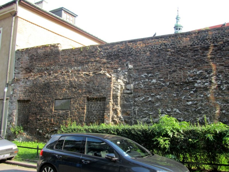then a looping walk back, via a remnant of the Kazimierz city wall