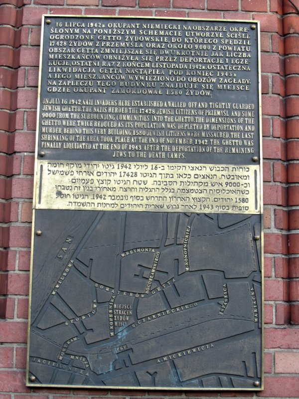 a memorial map of the ghetto boundaries