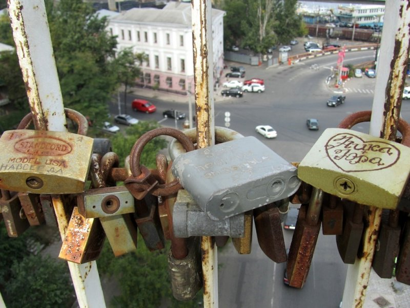 love locks with a view