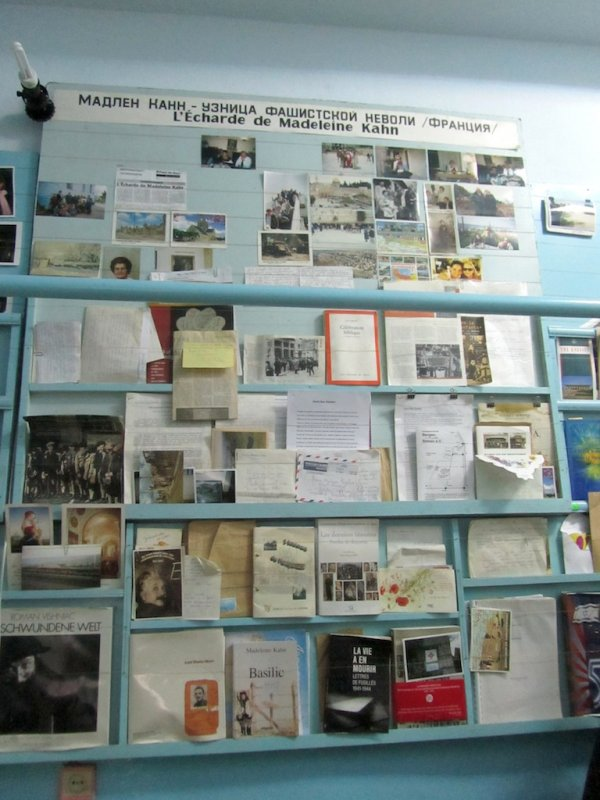 among other exhibits, material from the life of the French writer Madeleine Kahn