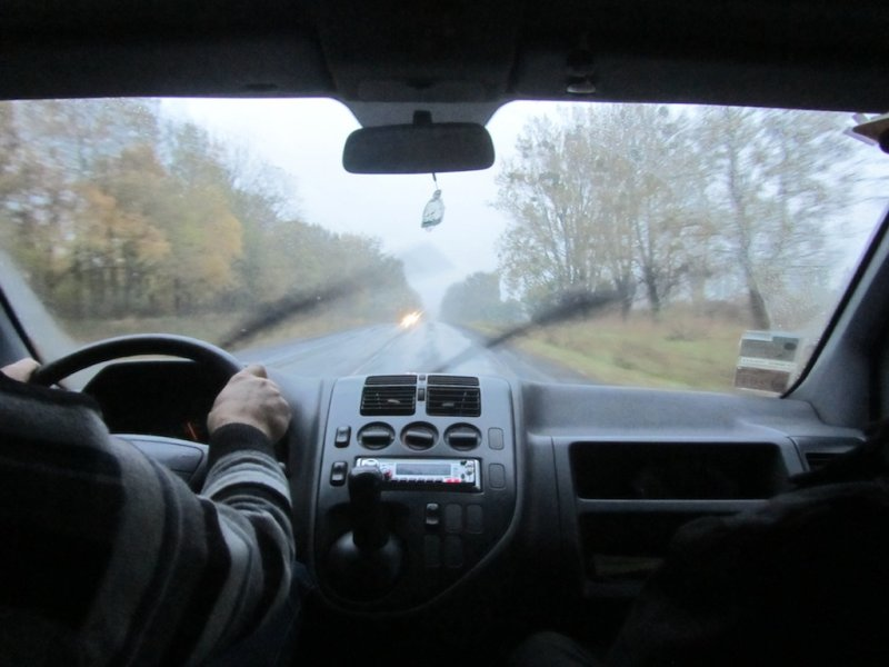heading south from Lviv with driver Vitaly and guide Alex