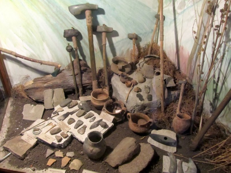 and indeed they are: items from the neolithic era...