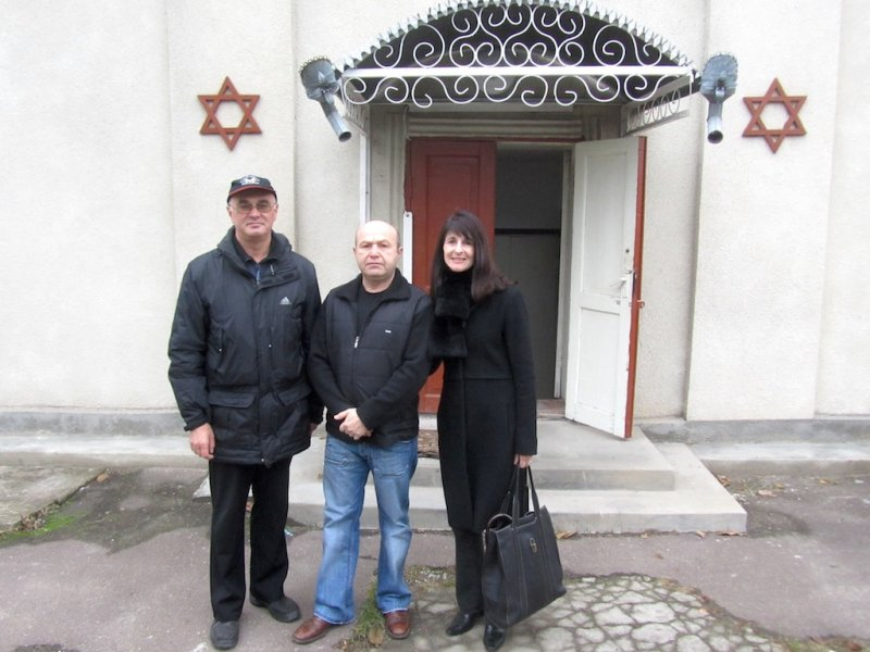 he is a prominent local businessman, and looks after the Jewish buildings and cemetery