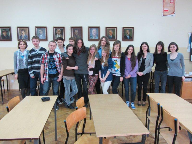 The students of English, teachers Barbara Galant and Dominika Michalska, Gina Kuhn, Karolina Wenda, Katarzyna Majcherczak