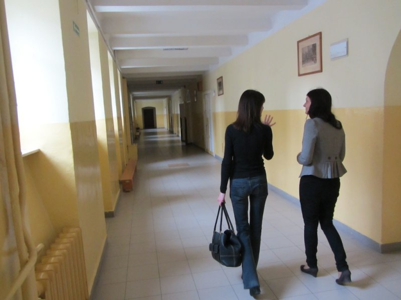 Touring the school, with English Teacher Dominika Michalska