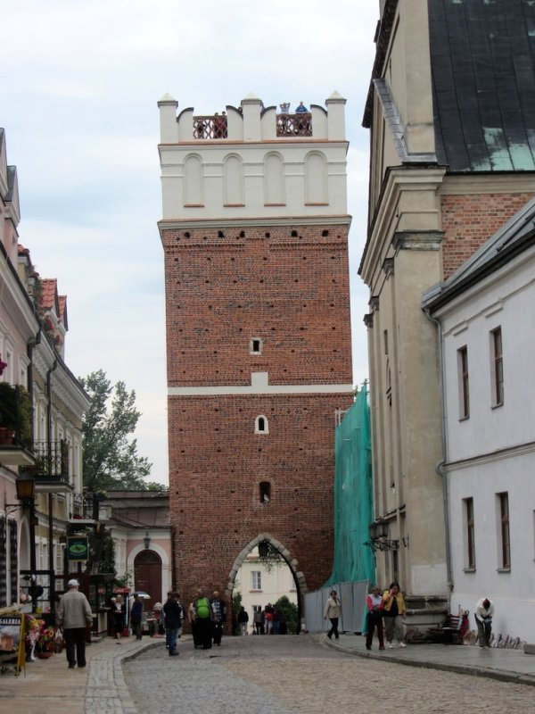 we start with the Opatowska Gate, a surviving fortress gate and tower