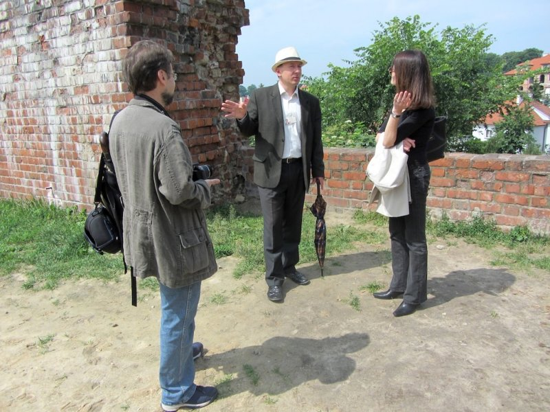 our guide explains to Witek and Marla about the city fortifications