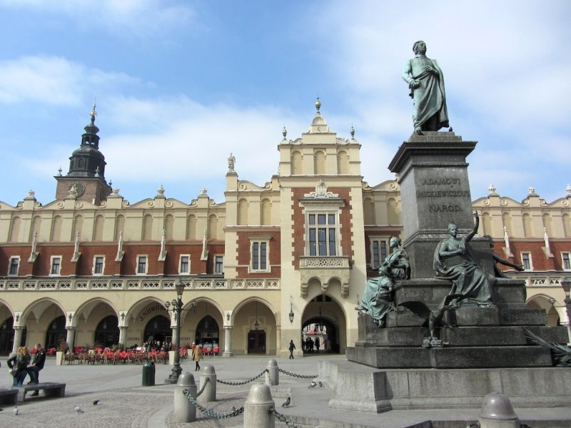 Krakow has many monuments to famous Poles...