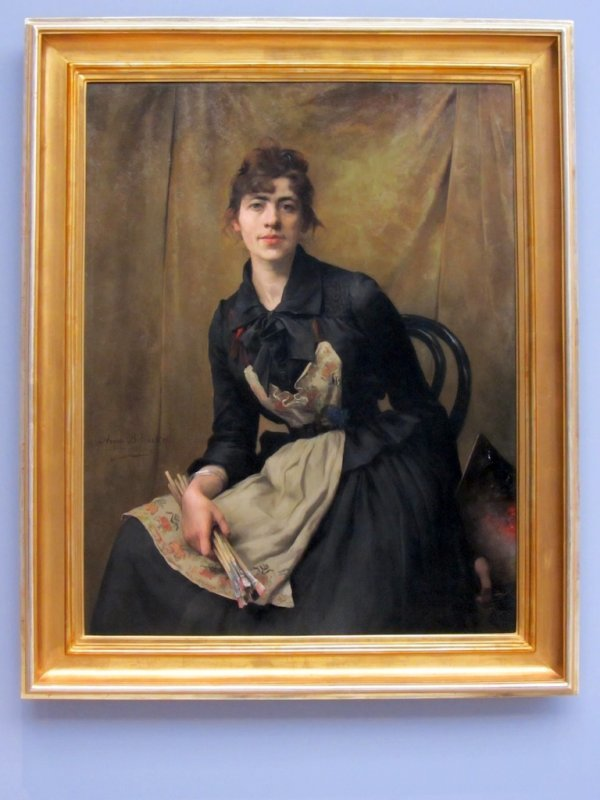 a self-portrait by Anna Belinska-Bohdanowiczowa