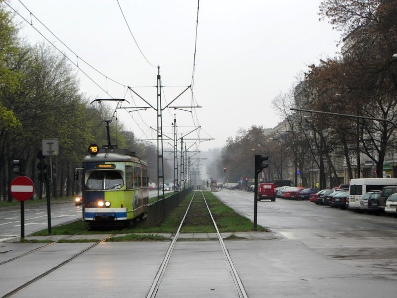the tram to the former steel works
