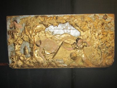 a relief work by Francis Olensky, Christ in his tomb