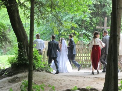 one more thing spring brings to the park: weddings!