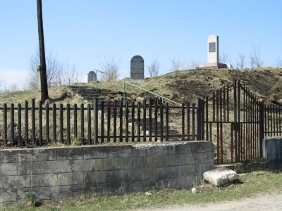 at the old cemetery, near the town center