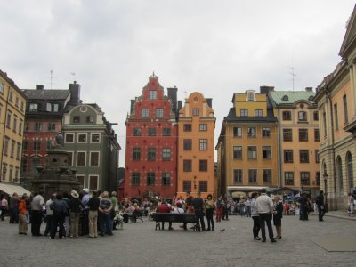 Stortorget (the Big Square); coins from the 13th-c. have been found here