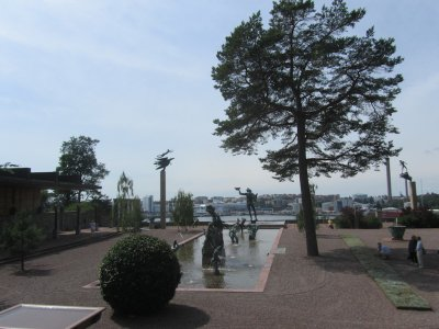 we take a local train out to Lidingö, home to Millesgården...