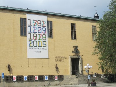 now were at the Historiska museum, which houses Swedens largest collection of antiquities