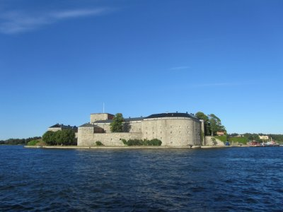 Vaxholm castle, since the 16th-c. a key sea defense against Danes and Russians