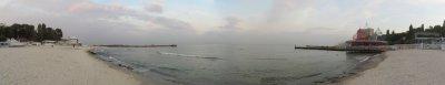 pano: Arkadia beach on the Black Sea