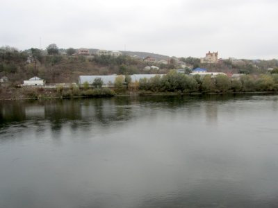 a view across the Dniester to Moldova