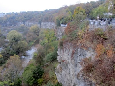 the deep Smotrych gorge makes for amazing vistas