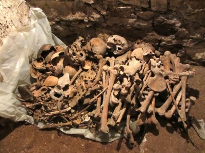 the church would like to bury these remains respectfully, and asks our opinion
