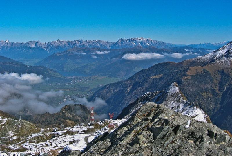 Blick vom Kitzsteinhorn auf den Zeller See
