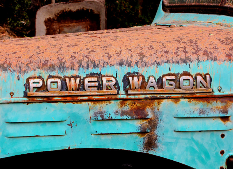 Fire Retardent on the Old Dodge Power Wagon