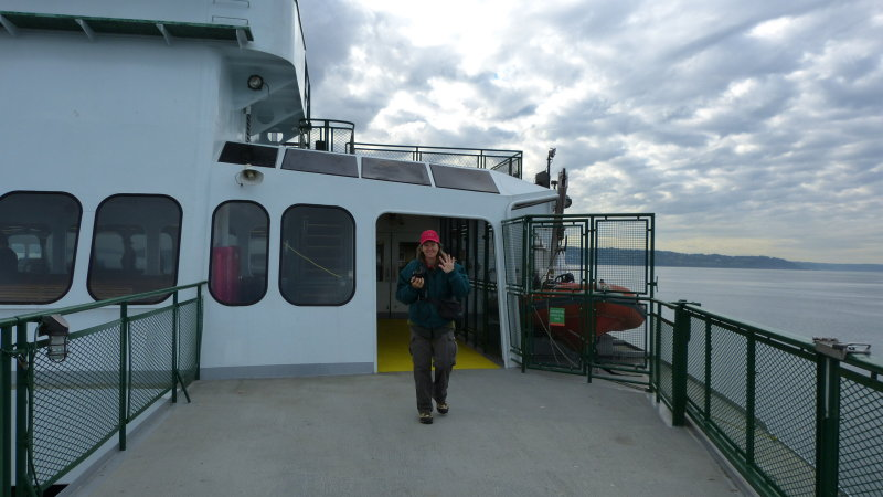 Tammy on Kittias Ferry to Whidbey Island, Washington