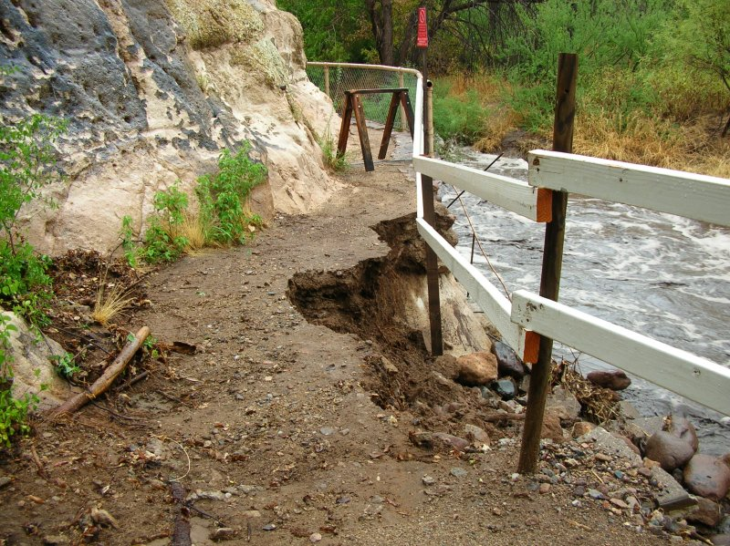 Damage to the Main Trail