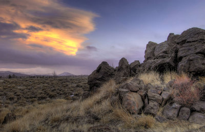 rock and sky