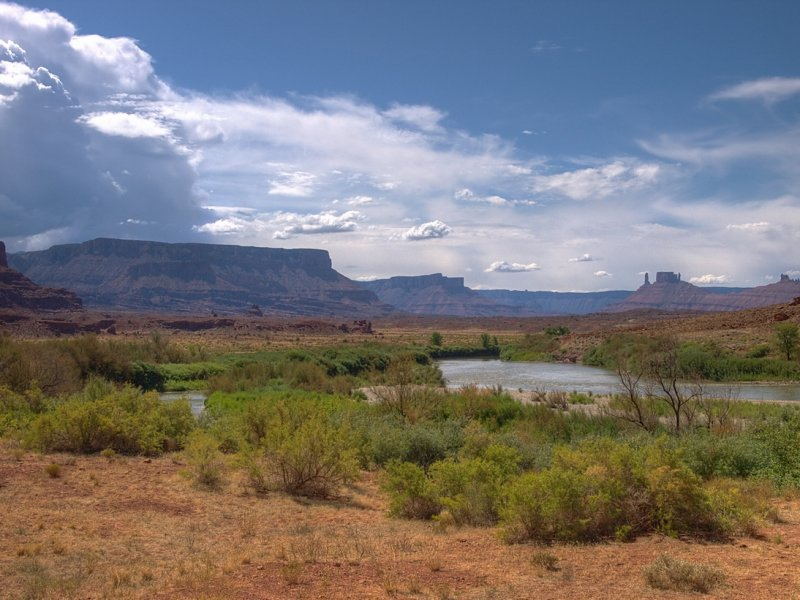 From HWY 128 following the Colorado river