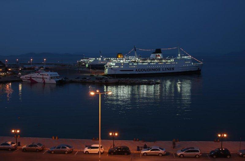 Rafina ferry harbour