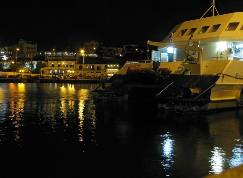 ferry  harbour in Rafina