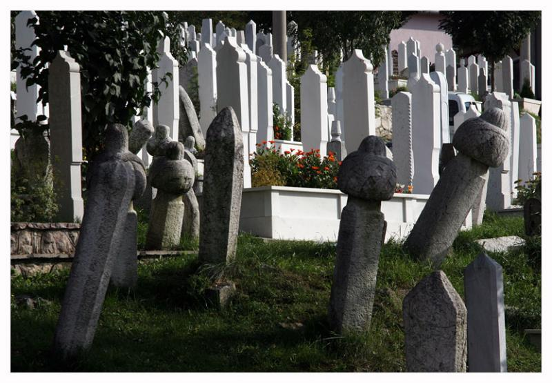 Old and new graves