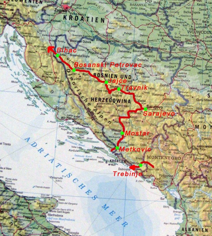 Bosnia Route