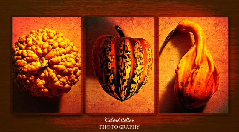 Trio of pumpkins