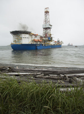 Noble Discoverer almost aground
