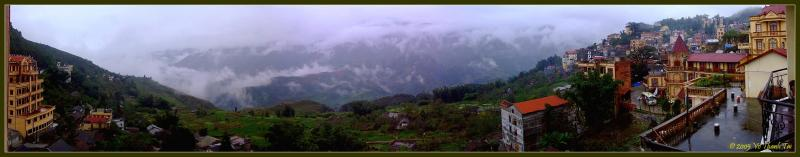 Sapa city view (panorama)