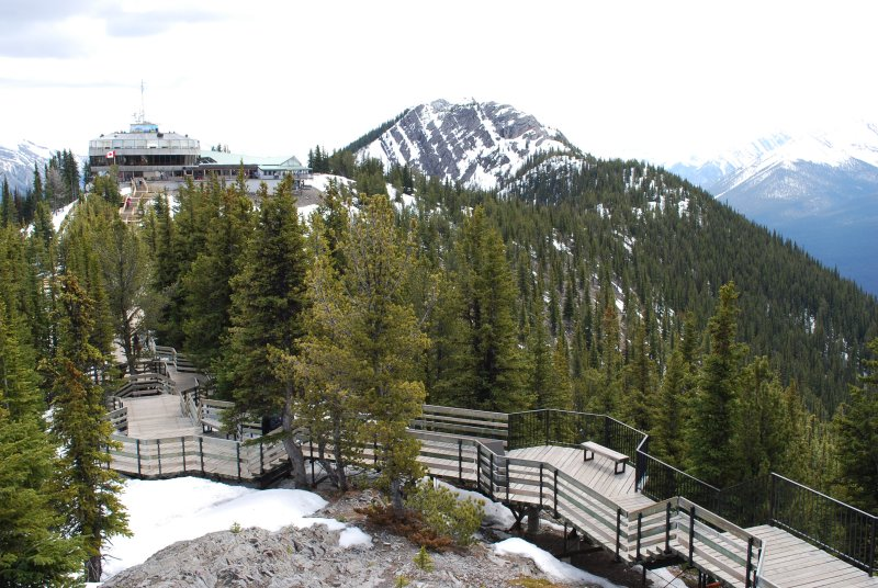 Sulphur Gondola station at summit
