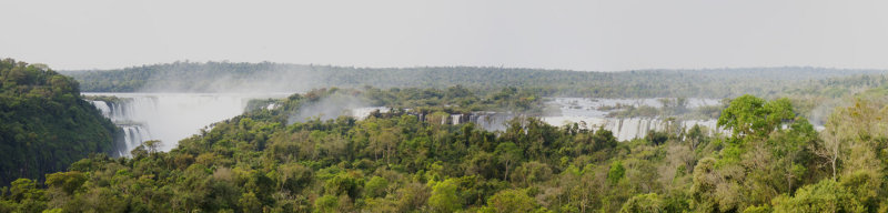 Iguazu Falls from the hotel roof